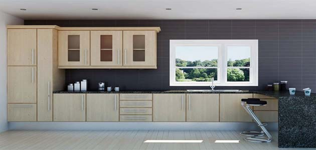 Chatedral Beech Effect kitchen - £695