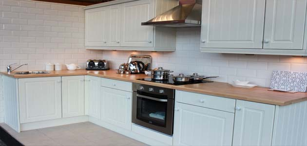 White Tongue and Groove Kitchen - £695